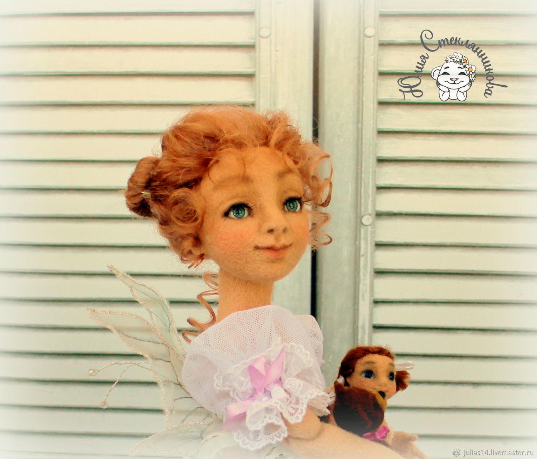 Needle felted doll Fairy of dolls, Boudoir doll, St. Petersburg,  Фото №1
