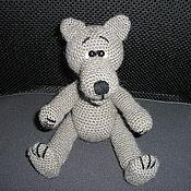 Куклы и игрушки ручной работы. Ярмарка Мастеров - ручная работа Вязаная игрушка Добрый волк. Handmade.