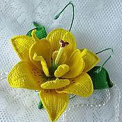 Украшения ручной работы. Ярмарка Мастеров - ручная работа Жёлтая лилия. Handmade.