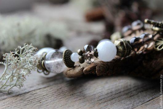 Браслеты ручной работы. Ярмарка Мастеров - ручная работа. Купить Нежные объятия   - браслет. Handmade. Сад, подарок, море, мороз