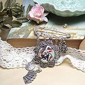 Украшения handmade. Livemaster - original item Brooch Pin Rabbit Alice in Wonderland Mad Tea party Resin. Handmade.