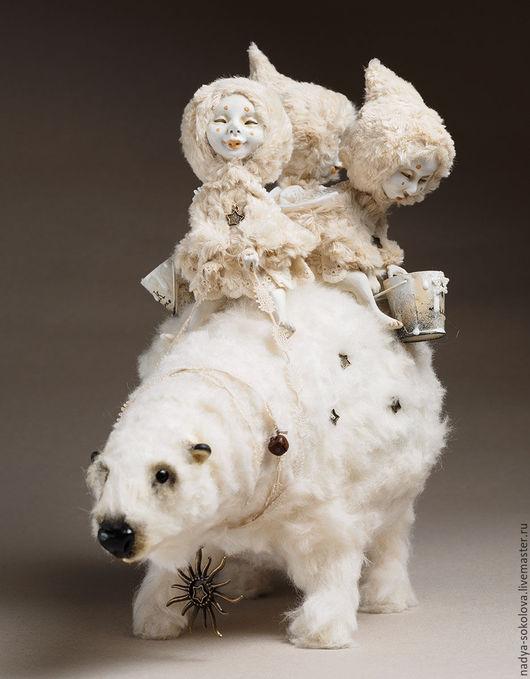 Коллекционные куклы ручной работы. Ярмарка Мастеров - ручная работа. Купить Там высоко, высоко, кто-то пролил молоко.... Handmade.
