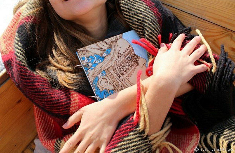 """Скетчбук 16х16см """"Мотив свободы"""" Блокнот деревянный, Блокноты, Москва,  Фото №1"""