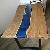 Для дома и интерьера handmade. Livemaster - original item Table of river slabs. Handmade.