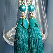 Украшения handmade. Livemaster - original item Earrings tassels bells. Handmade.