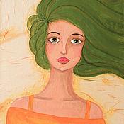 Картины и панно ручной работы. Ярмарка Мастеров - ручная работа Картина в смешанной технике Ветер Свободы. Handmade.