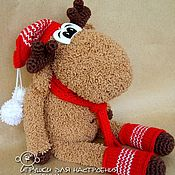 Подарки к праздникам handmade. Livemaster - original item Christmas moose in red. Handmade.