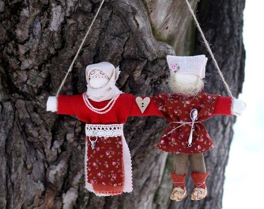 """Народные куклы ручной работы. Ярмарка Мастеров - ручная работа. Купить Куколка-неразлучники """"Красная горка"""". Handmade. Венчание, жених"""