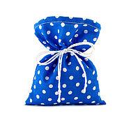 Сувениры и подарки ручной работы. Ярмарка Мастеров - ручная работа 10 мешочков в горошек, синие, 10х12 см.. Handmade.