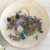 Тарелки ручной работы. Ярмарка Мастеров - ручная работа Тарелка малая в технике декупаж  Весенние цветы. Handmade.