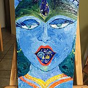 """Картины и панно ручной работы. Ярмарка Мастеров - ручная работа Картина маслом """"Внутри тебя"""". Handmade."""