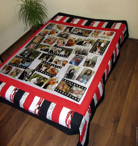 Текстиль, ковры ручной работы. Ярмарка Мастеров - ручная работа. Купить покрывало с фотографиями. Handmade. Покрывало пэчворк, покрывало с фото