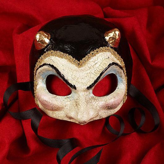 Карнавальные костюмы ручной работы. Ярмарка Мастеров - ручная работа. Купить Карнавальная маска Фаусто Кракле/Черный. Handmade. Маска, черт