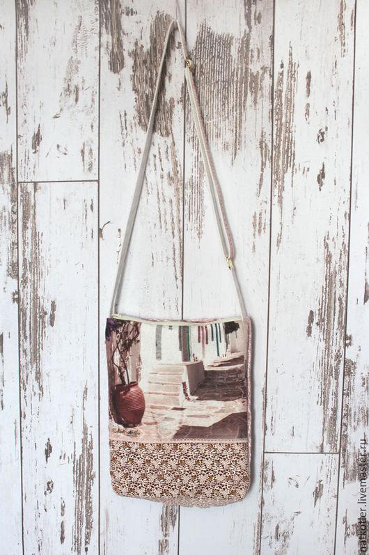 Женские сумки ручной работы. Ярмарка Мастеров - ручная работа. Купить Полдень на Санторини-6. Handmade. Комбинированный, подарок