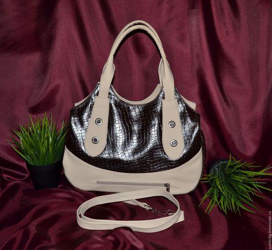 Женские сумки ручной работы. Ярмарка Мастеров - ручная работа. Купить Модель 400. Handmade. Комбинированный, сумочка из кожи