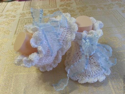 """Для новорожденных, ручной работы. Ярмарка Мастеров - ручная работа. Купить Пинетки для малышей """"Нежность"""". Handmade. Белый, чудесный подарок"""