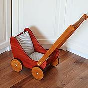 Мебель для кукол ручной работы. Ярмарка Мастеров - ручная работа Коляска для куклы / деревянная коляска. Handmade.