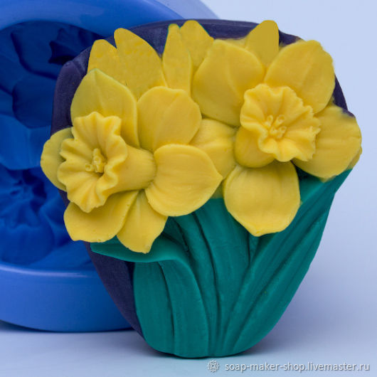 Silicone mold for soap 'Daffodils', Form, Shahty,  Фото №1