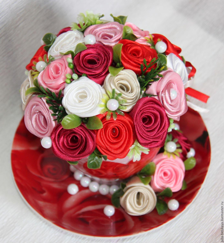 Цветы из атласных лент купить в спб живые цветы в доме по фен шуй