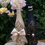 Свадебный салон ручной работы. Ярмарка Мастеров - ручная работа Свадебный набор шампанского. Handmade.