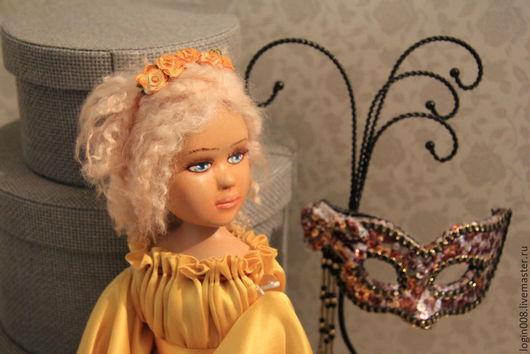 Коллекционные куклы ручной работы. Ярмарка Мастеров - ручная работа. Купить SUNNY - Будуарная кукла. Handmade. Желтый, паперклей
