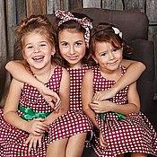 Работы для детей, ручной работы. Ярмарка Мастеров - ручная работа Платье хлопковое в горошек для девочки. Handmade.