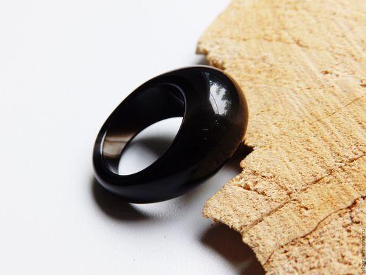Кольца ручной работы. Ярмарка Мастеров - ручная работа. Купить Кольцо Черный кофе из агата 18.5 размер. Handmade.