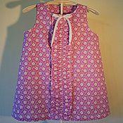 Платье ручной работы. Ярмарка Мастеров - ручная работа Детское платье летнее с рюшей. Handmade.
