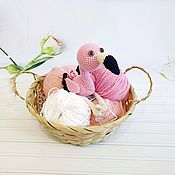 Мягкие игрушки ручной работы. Ярмарка Мастеров - ручная работа Розовый фламинго. Handmade.