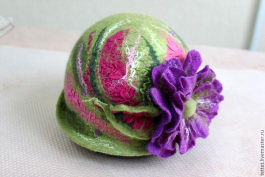"""Шляпы ручной работы. Ярмарка Мастеров - ручная работа. Купить """"Арт"""" шляпа. Handmade. Зеленый, головные уборы, яркая шляпа"""