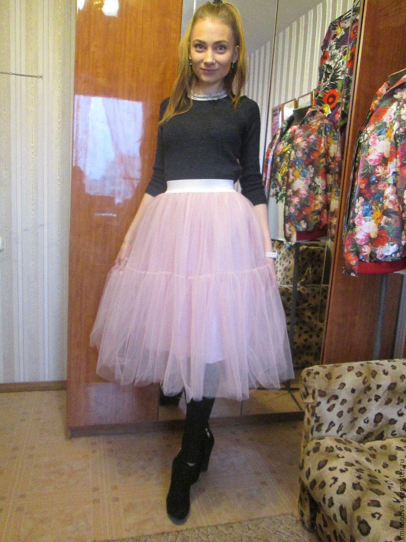 Пудровая юбка фото