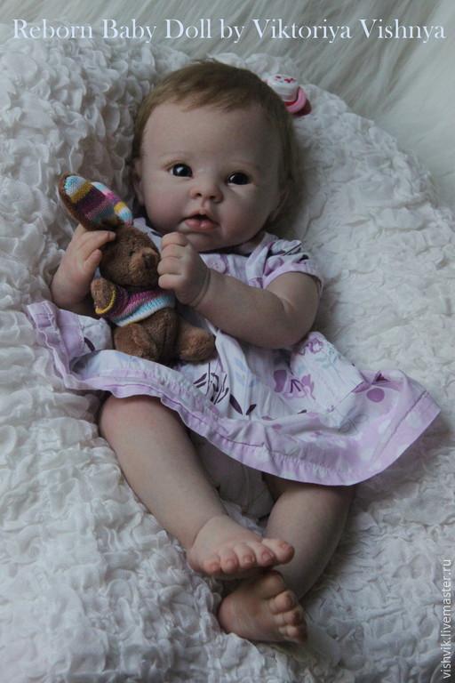 Куклы-младенцы и reborn ручной работы. Ярмарка Мастеров - ручная работа. Купить Криста. Handmade. Бледно-розовый, вишня виктория