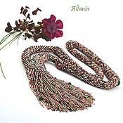 Украшения handmade. Livemaster - original item Silk chocolate necklace. Handmade.