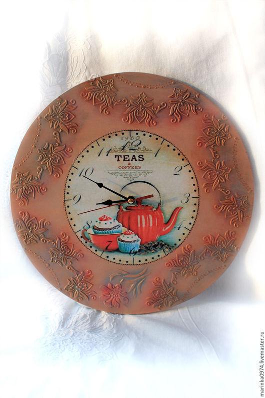 """Часы для дома ручной работы. Ярмарка Мастеров - ручная работа. Купить часы настенные круглые"""" Упал цветочек со стола"""". Handmade."""
