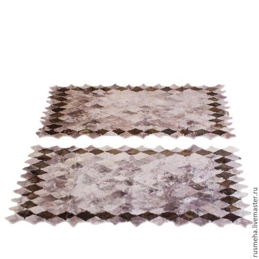 Текстиль, ковры ручной работы. Ярмарка Мастеров - ручная работа. Купить Коврики из меха в спальню Код: 711. Handmade. Серый