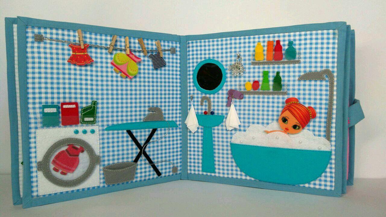 Развивающая книжка - кукольный домик. Куколка с домом, книжка из фетра – заказать на Ярмарке Мастеров – FF8OZRU | Кубики и книжки, Москва