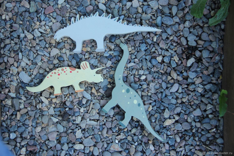 Деревянная игрушка - Динозавры, Миниатюрные игрушки, Красноярск, Фото №1