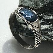 Украшения handmade. Livemaster - original item Men`s Vedic silver ring with blue Sapphire handmade. Handmade.