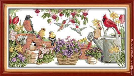 Набор для вышивания `Птицы в саду`