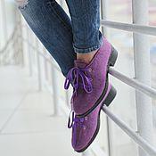 Обувь ручной работы. Ярмарка Мастеров - ручная работа Валяные полуботинки Аметистовый город. Handmade.