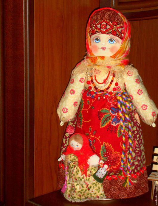 Народные куклы ручной работы. Ярмарка Мастеров - ручная работа. Купить Мамушка 2 повтор. Handmade. Ярко-красный