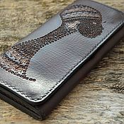 Сумки и аксессуары handmade. Livemaster - original item Leather women`s wallet №11. Handmade.