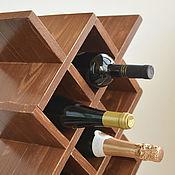 """Для дома и интерьера ручной работы. Ярмарка Мастеров - ручная работа """"Маргарита"""", Деревянная винная полка, винный шкаф стеллаж из дерева. Handmade."""
