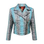 Одежда handmade. Livemaster - original item Jacket made of Python leather RIVIERA. Handmade.
