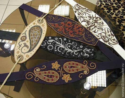 Пояса, ремни ручной работы. Ярмарка Мастеров - ручная работа. Купить Широкий пояс в японском стиле Оби с вышивкой на заказ в любом цвете. Handmade.