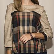 Одежда ручной работы. Ярмарка Мастеров - ручная работа Блузка с кокеткой. Handmade.