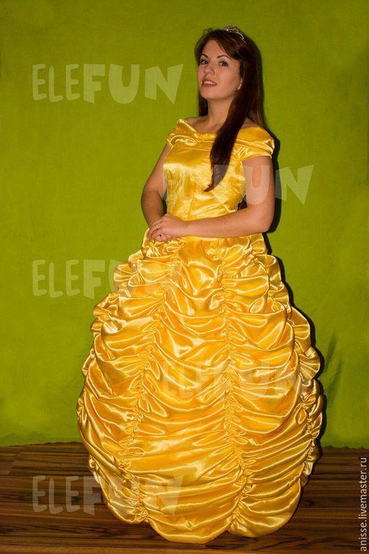 Карнавальные костюмы ручной работы. Ярмарка Мастеров - ручная работа. Купить Белль. Handmade. Желтый, платье, резинка, молния