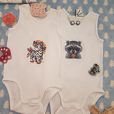 Товары для малышей ручной работы. Ярмарка Мастеров - ручная работа Одежда: Боди. Handmade.