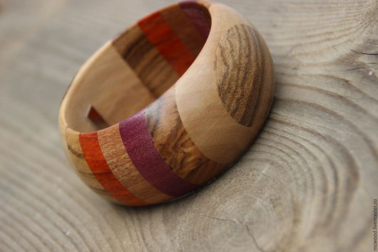 Браслеты ручной работы. Ярмарка Мастеров - ручная работа. Купить Браслет из дерева  Овал Зебрано. Handmade. Комбинированный, деревянный браслет