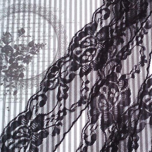 Шитье ручной работы. Ярмарка Мастеров - ручная работа. Купить Кружево черное 62 мм. Handmade. Фурнитура для украшений, кружево